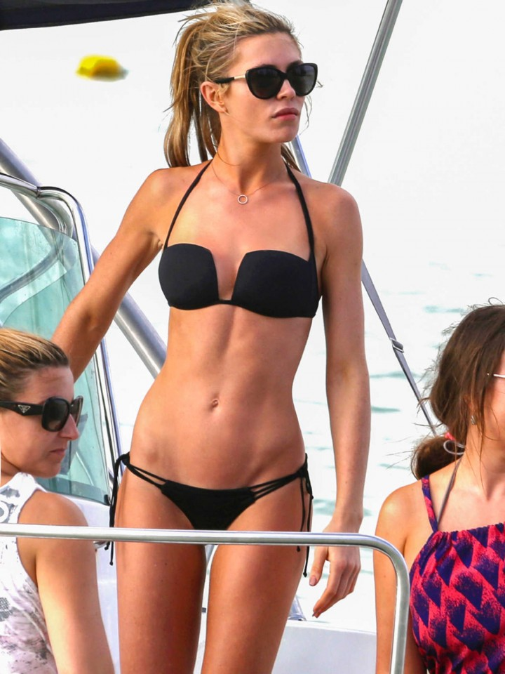 Abbey Clancy - Wearing Bikini In Dubai-02