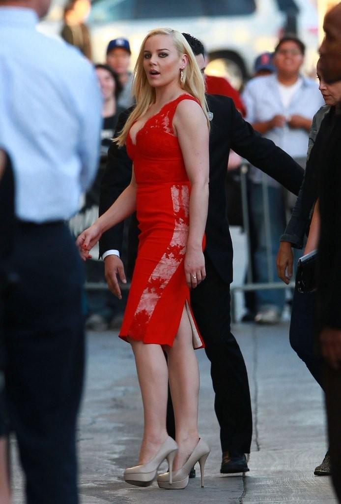 Abbie Cornish: Amazing in Red Dress at Jimmy Kimmel Live 2014 -08 ... Abbie Cornish