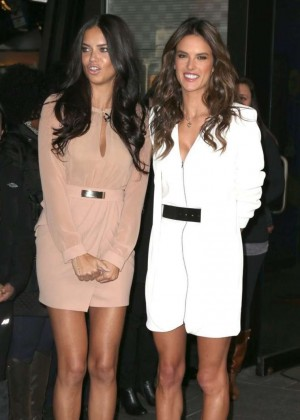 Adriana Lima & Alessandra Ambrosio - Arriving at 'Good Morning America' in NYC