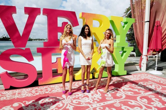 Adriana Lima, Candice Swanepoel and Erin Heatherton cleavage and legs for Victorias Secret Very Sexy at the Mondrian Sough Beach in Miami-17