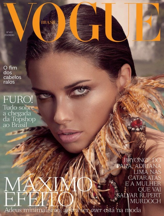 Adriana Lima – Cover – Vogue Brazil (Feb 2012)