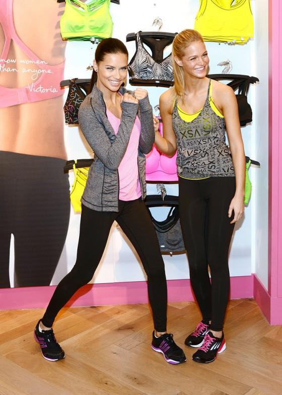 Adriana Lima & Erin Heatherton – Victoria's Secret VSX Launch Event in NY