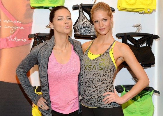 Adriana Lima and Erin Heatherton at Victorias Secret VSX Launch Event -10