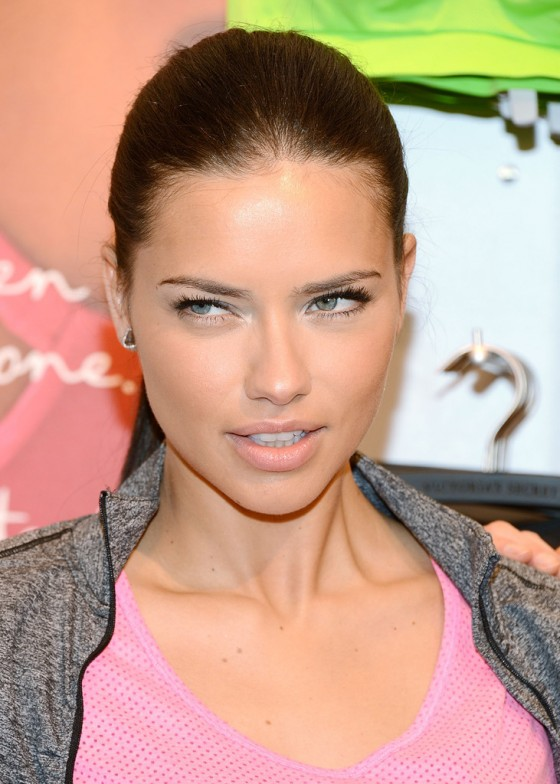 Adriana Lima and Erin Heatherton at Victorias Secret VSX Launch Event -12