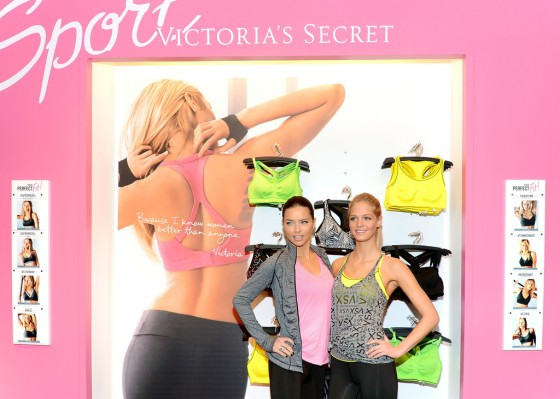 Adriana Lima and Erin Heatherton at Victorias Secret VSX Launch Event -15