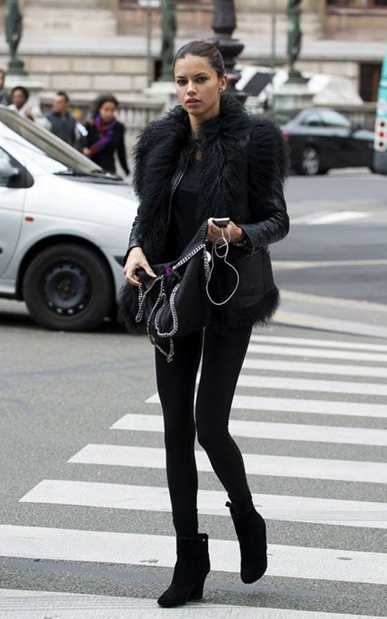 Adriana Lima – Seen out in Paris