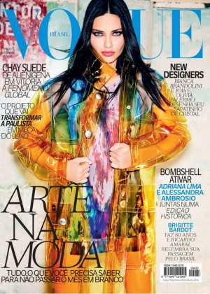 Adriana Lima - Vogue Brazil Cover Magazine (September 2014)