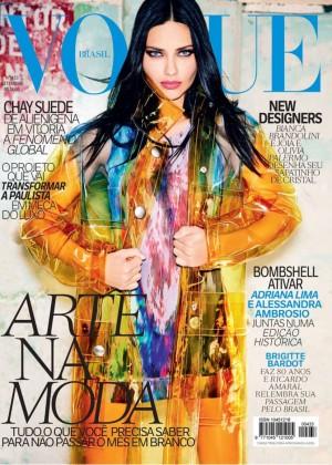 Adriana Lima - Vogue Brazil Cover Magazine (September 2014)