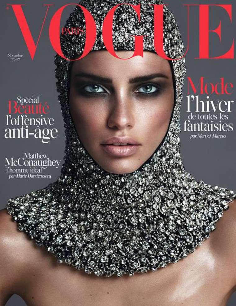 Adriana Lima - Vogue Paris Magazine Cover (November 2014)