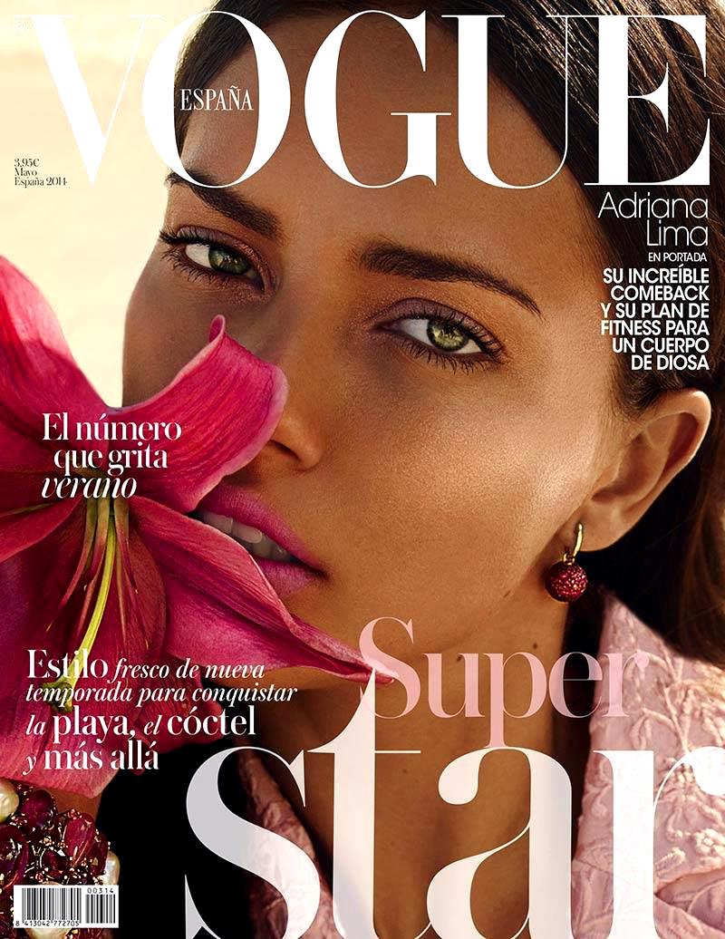 Adriana Lima 2014 : Adriana Lima: Vogue Spain 2014 -06