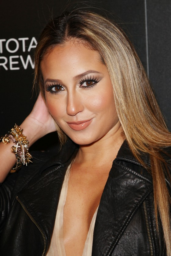 Adrienne Bailon hot in see through dress at Escape To Total Rewards-13