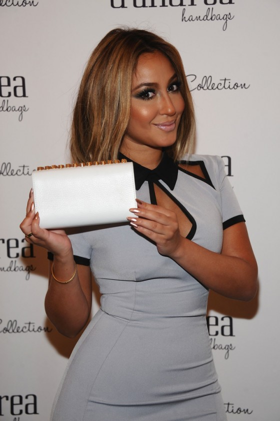 Adrienne Bailon Hot In Dress: 2013 GBK and Sparkling Resort Fashionable Lounge-09
