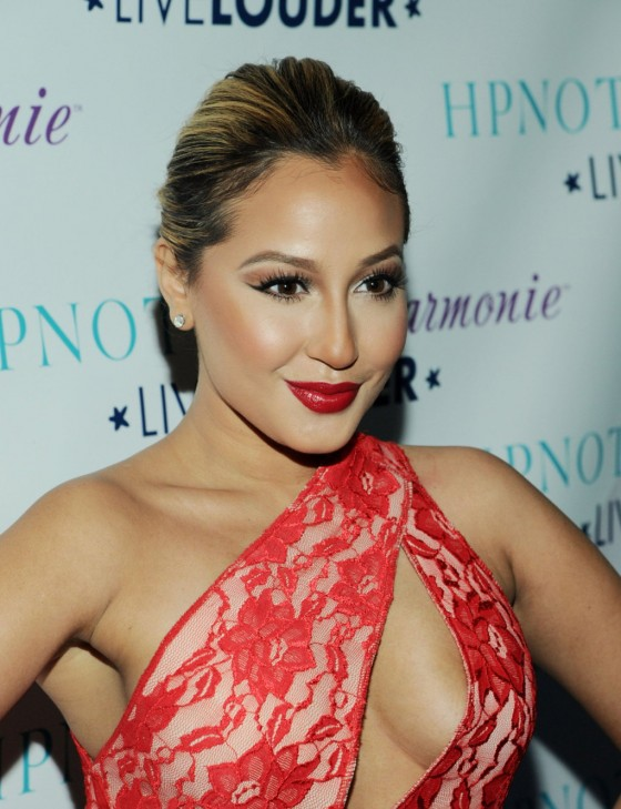 Adrienne Bailon In Hot Dress At HPNOTIQ Liqueurs Valentines Day Cocktail  Recipe Launch 02
