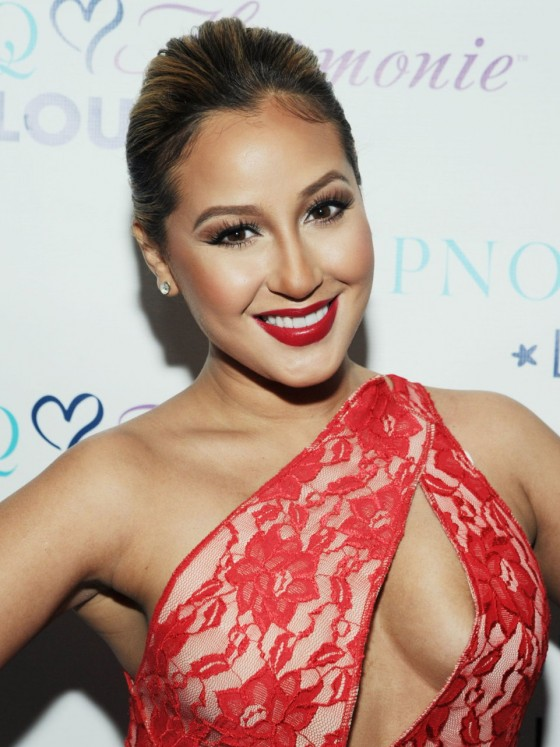 Adrienne Bailon Hot Dress Photos: HPNOTIQ Valentine's Day