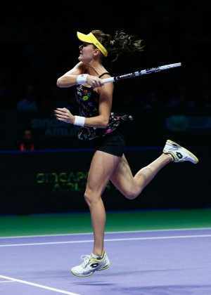 Agnieszka Radwanska at WTA Finals 2014 in Singapore
