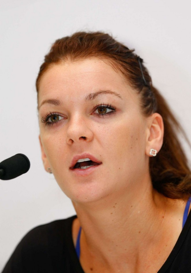 Agnieszka Radwanska - Press Conference Ahead of the WTA 2014 in Singapore
