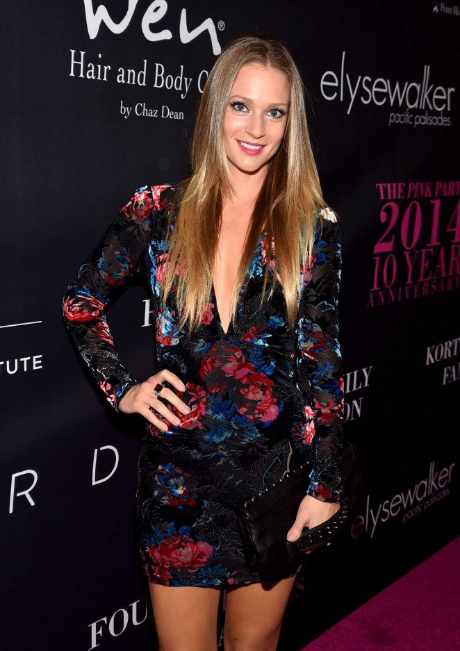 AJ Cook – 10th anniversary Pink Party in Santa Monica