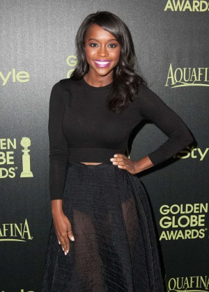 Aja Naomi King - HFPA & InStyle Celebrate 2015 Golden Globe Award Season in West Hollywood