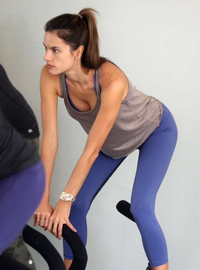 Alessandra Ambrosio at a gym in Los Angeles