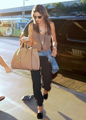 Alessandra Ambrosio at LAX in LA