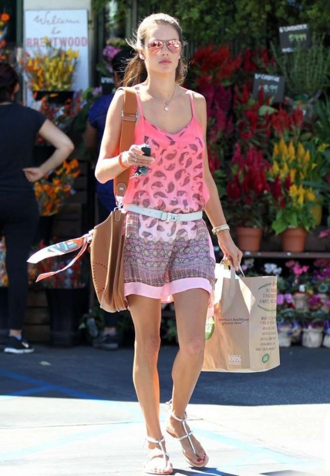 Alessandra Ambrosio in Pink Mini Dress -15