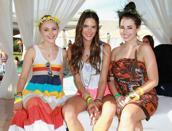 Alessandra Ambrosio attends LACOSTE LIVE 4th Annual Desert Pool Party