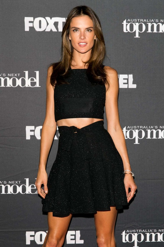 Alessandra Ambrosio - Australia's Next Top Model Elimination Set in Sydney