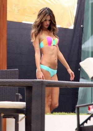 Alessandra Ambrosio: VS Bikini Photoshoot 2014 -18