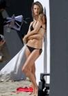 Alessandra Ambrosio in Black Bikini Photoshoot -17