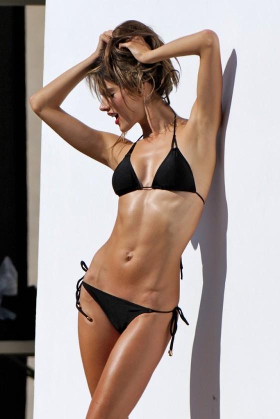 Alessandra Ambrosio in Black Bikini Photoshoot -23