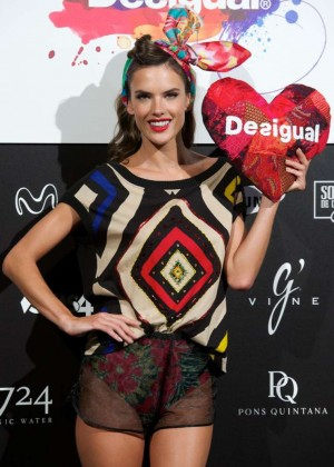 Alessandra Ambrosio - Desigual Fashion Show Runway in Madrid