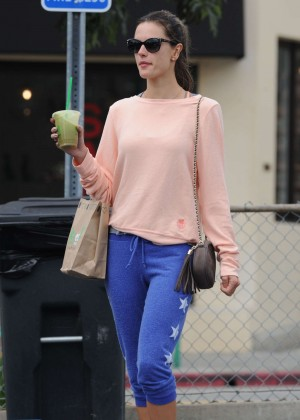 Alessandra Ambrosio - Leaves a cycling class in Brentwood