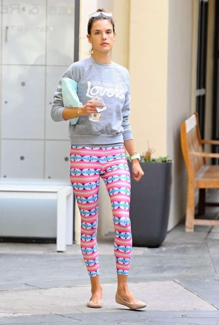 Alessandra Ambrosio 2014 : Alessandra Ambrosio in Pink Leggings -01
