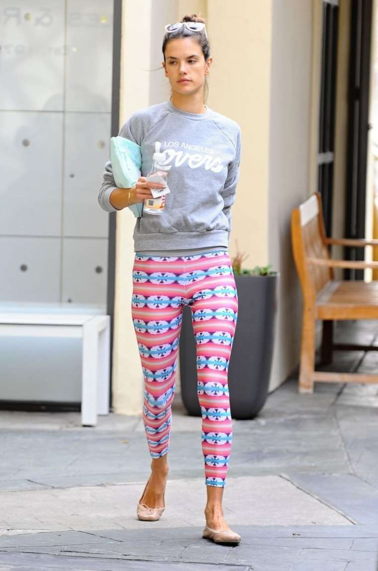 Alessandra Ambrosio - Leaving yoga class in Brentwood