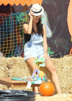 Alessandra Ambrosio - Mr. Bones Pumpkin Patch in West Hollywood