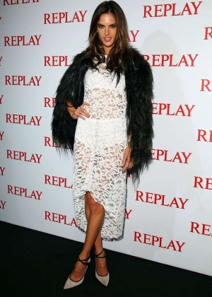 Alessandra Ambrosio - Replay Store Preview in Milan