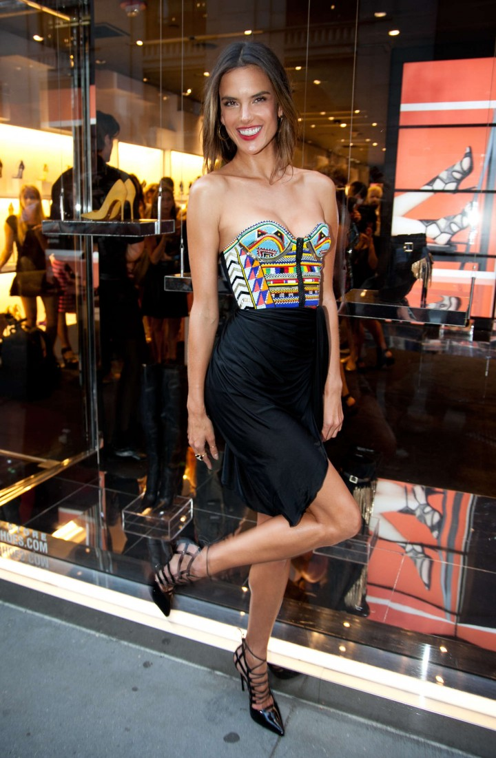 Alessandra Ambrosio - Schutz Footwear Launch in NYC