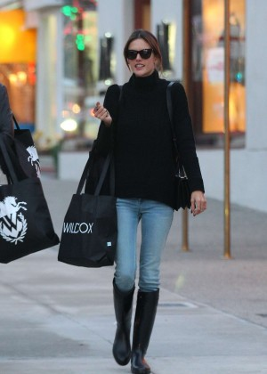 Alessandra Ambrosio in Tight Jeans Shopping in West Hollywood