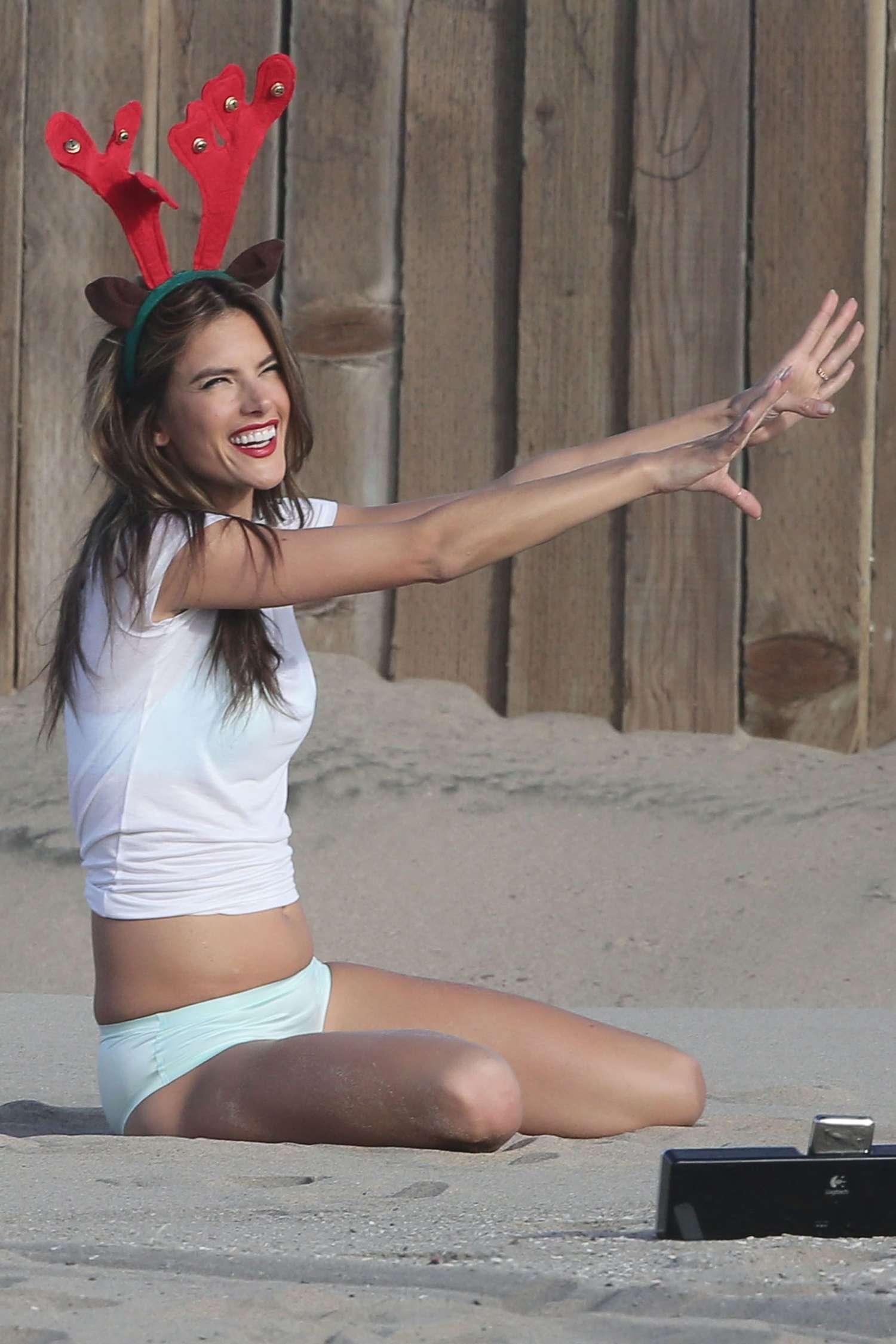 Alessandra Ambrosio Victorias Secret Photoshoot in LA