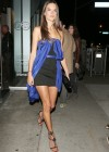 Alessandra Ambrosio wearing a short black dress -05