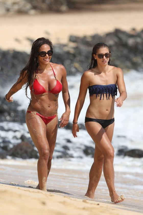 Alex Morgan and Sydney Leroux Bikini Photos: Hawaii 2013 -09
