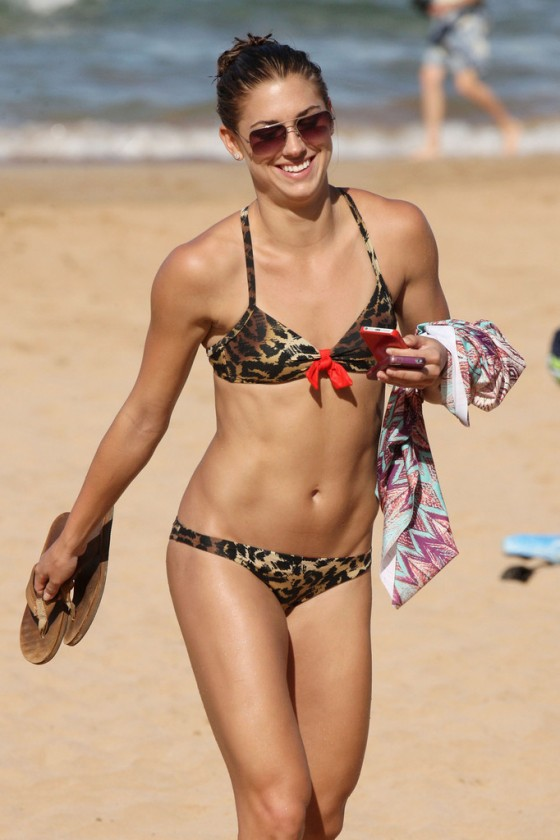 Alex Morgan - In Leopard Print Bikini in Hawaii (adds)