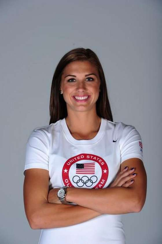 Alex Morgan 2012 US Olympic team photoshoot