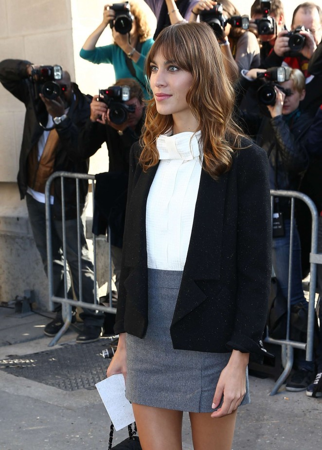 Alexa Chung - Chanel Fashion Show Spring-Summer 2015 in Paris