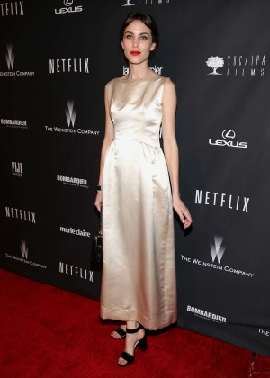 Alexa Chung: 2014 The Weinstein Company and Netflix GG after party -01