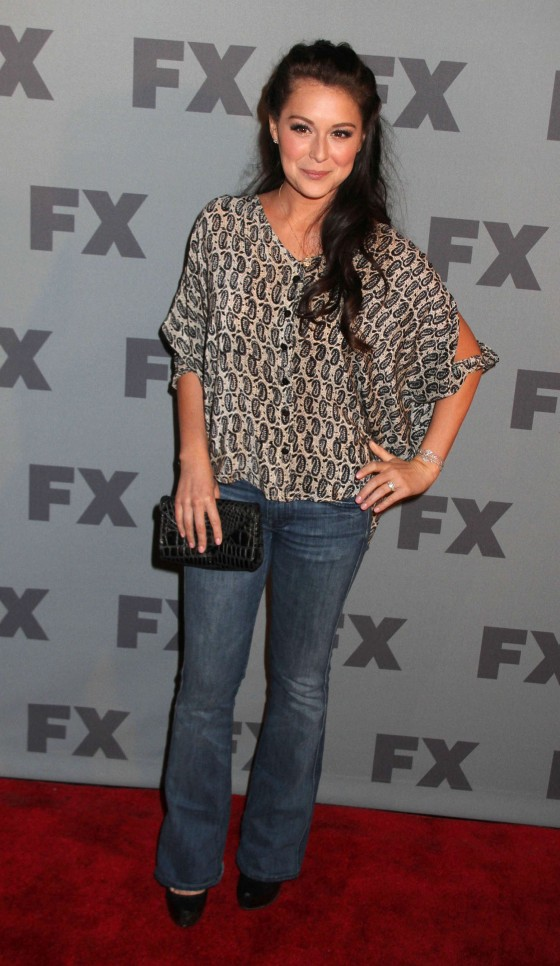 Alexa Vega jeans at FX Ad Sales Upfront at Lucky Strike