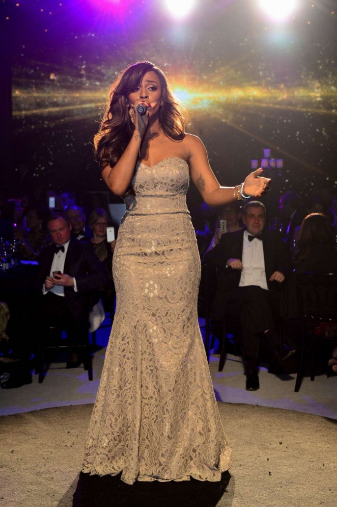 Alexandra Burke: Emeralds and Ivy Ball -05