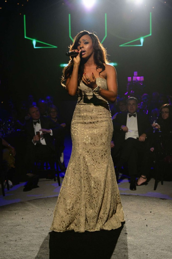 Alexandra Burke: Emeralds and Ivy Ball -06