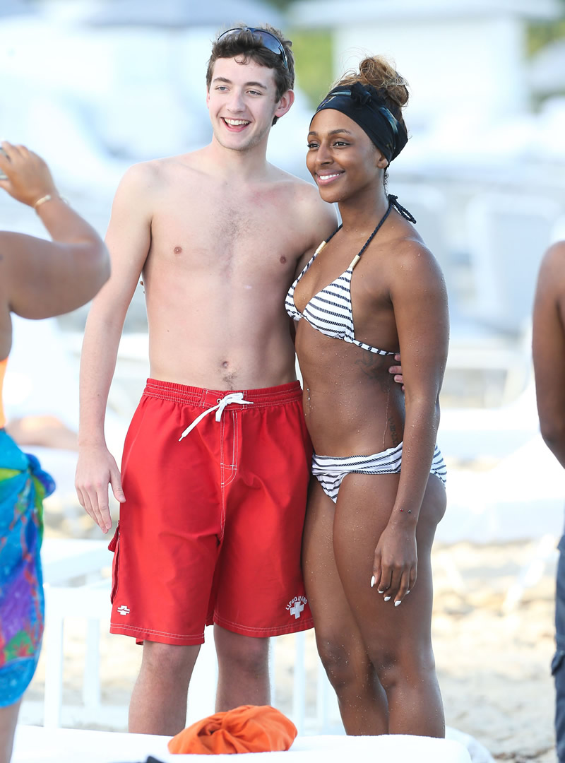Back to post Alexandra Burke in Bikini on Miami Beach