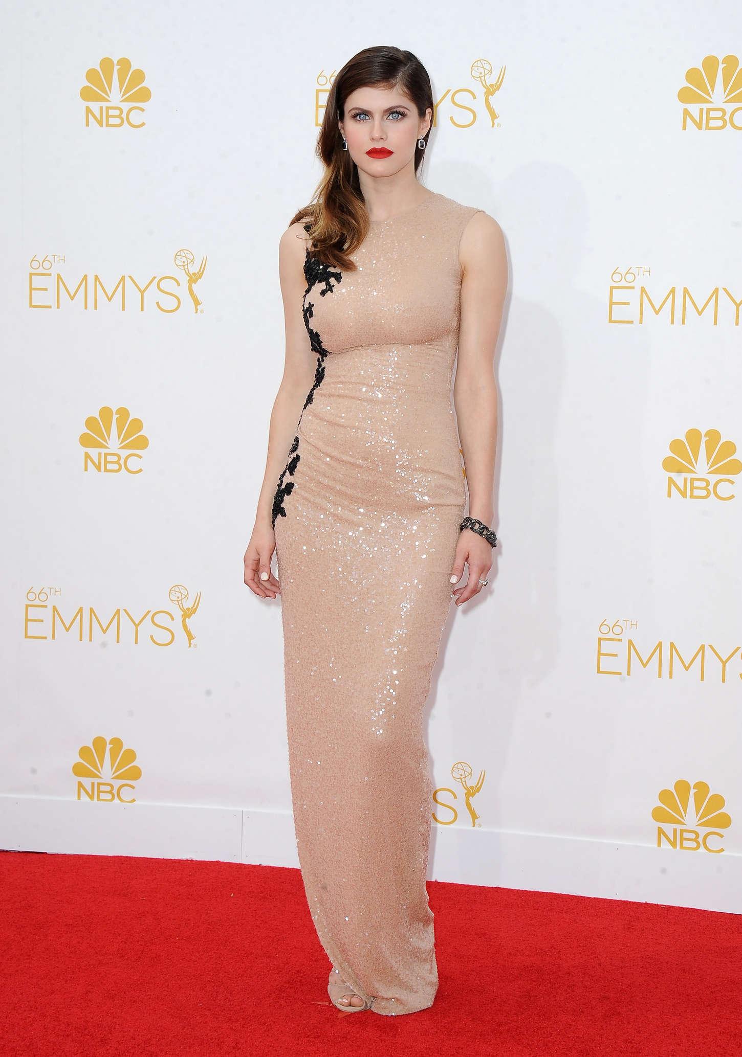 Alexandra Daddario: 2014 Primetime Emmy Awards -35 - GotCeleb Emmy Awards 2017